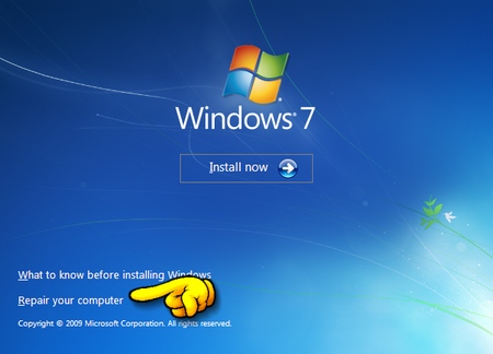 how to create a windows 7 system repair flash drive