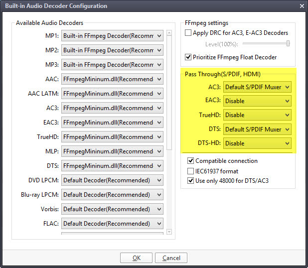 PotPlayer SPDIF AAC AC3 DTS PCM - VideoHelp Forum