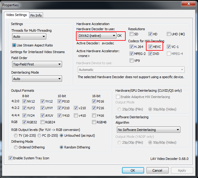 Struggles when playing back certain 4K files in MPC-HC - VideoHelp Forum