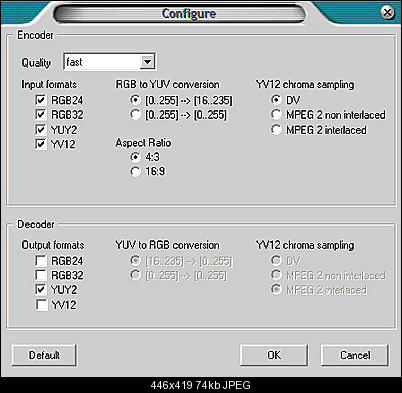 Output file is way bigger than input file in Virtualdub