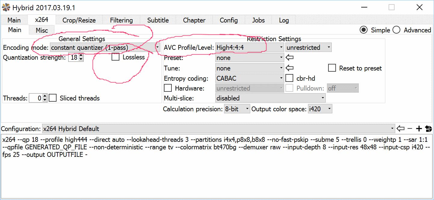 Hybrid(Windows/Linux/Mac): Input -> x264/x265/Xvid/VP8/VP9