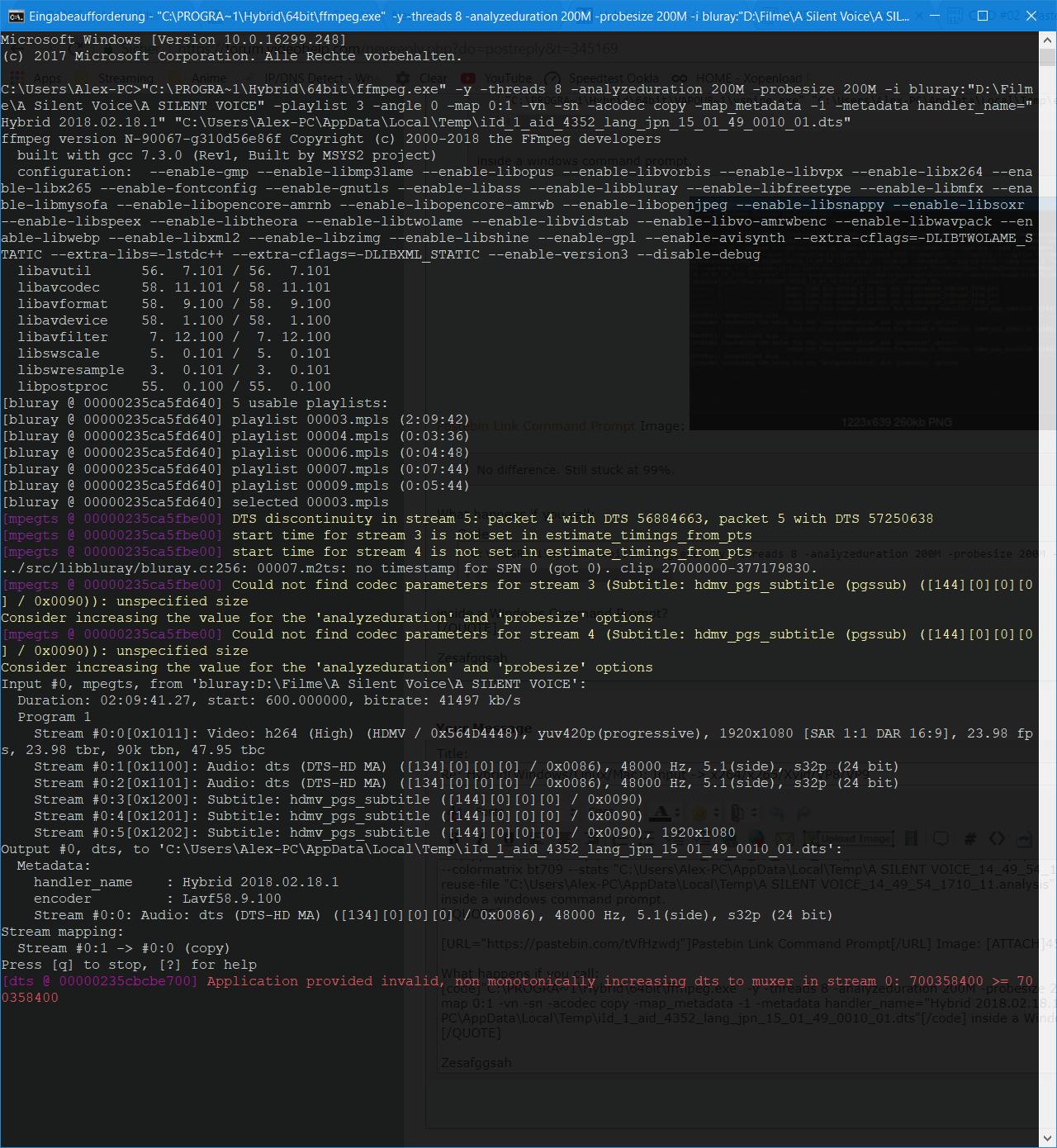 Hybrid(Windows/Linux/Mac): Input -> x264/x265/Xvid/VP8/VP9 - Page 60