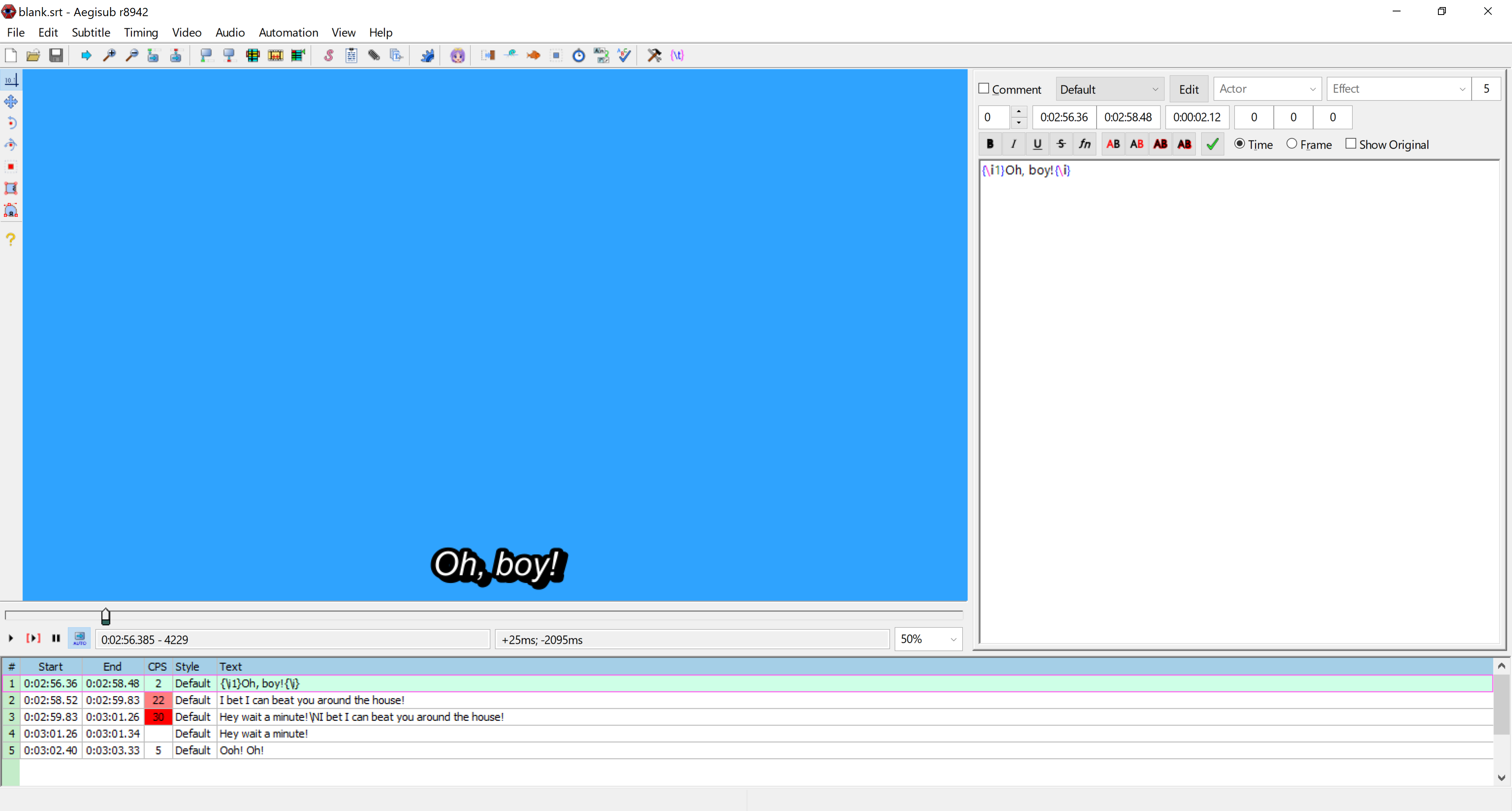 SRT blank line character - VideoHelp Forum