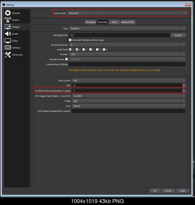 Help with OBS screen record settings - VideoHelp Forum