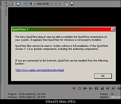 Click image for larger version  Name:Sony QuickTime Warning.jpg Views:401 Size:53.5 KB ID:31907