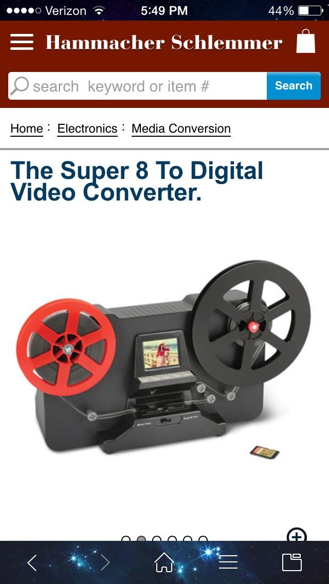 super 8 film scanner from hammacher schlemmer videohelp forum. Black Bedroom Furniture Sets. Home Design Ideas