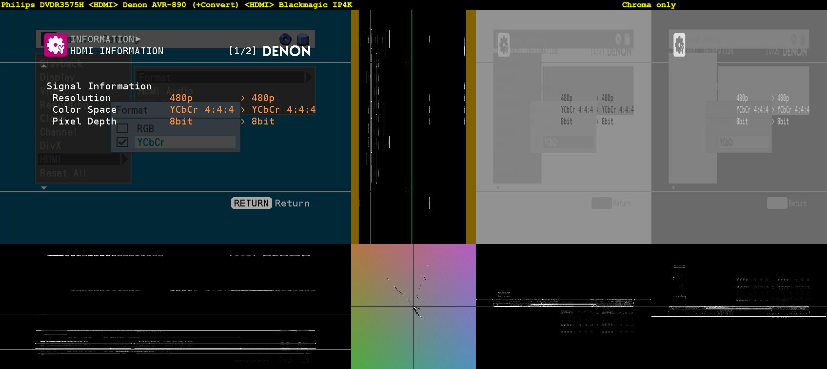 Click image for larger version  Name:Menu + Info - Philips DVDR3575H =HDMI= Denon AVR-890 (+Convert) =HDMI= Blackmagic IP4K.png Views:2329 Size:85.5 KB ID:37601