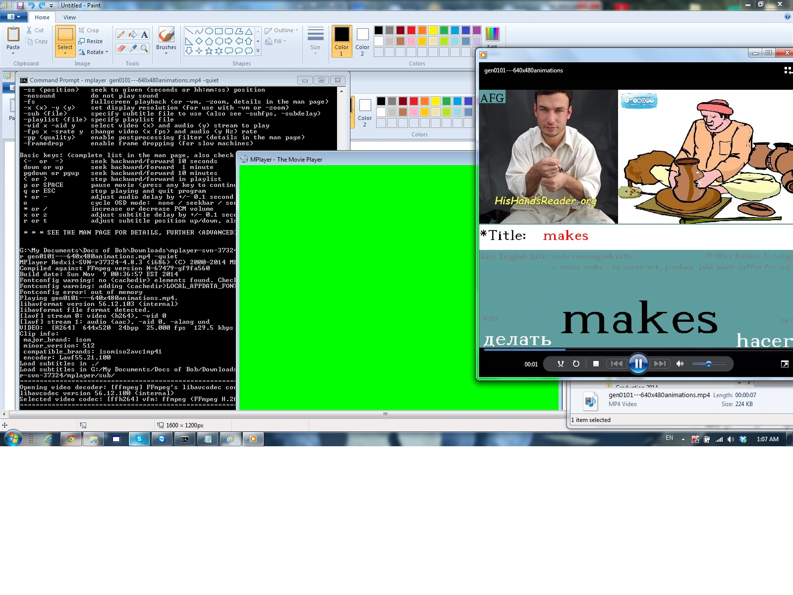 MPlayer last frame flashes green - VideoHelp Forum