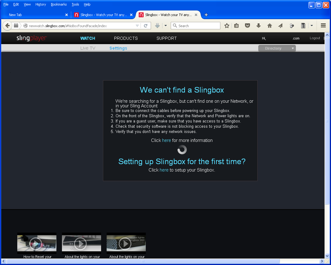 Connect wont my slingbox Solved: Slingplayer