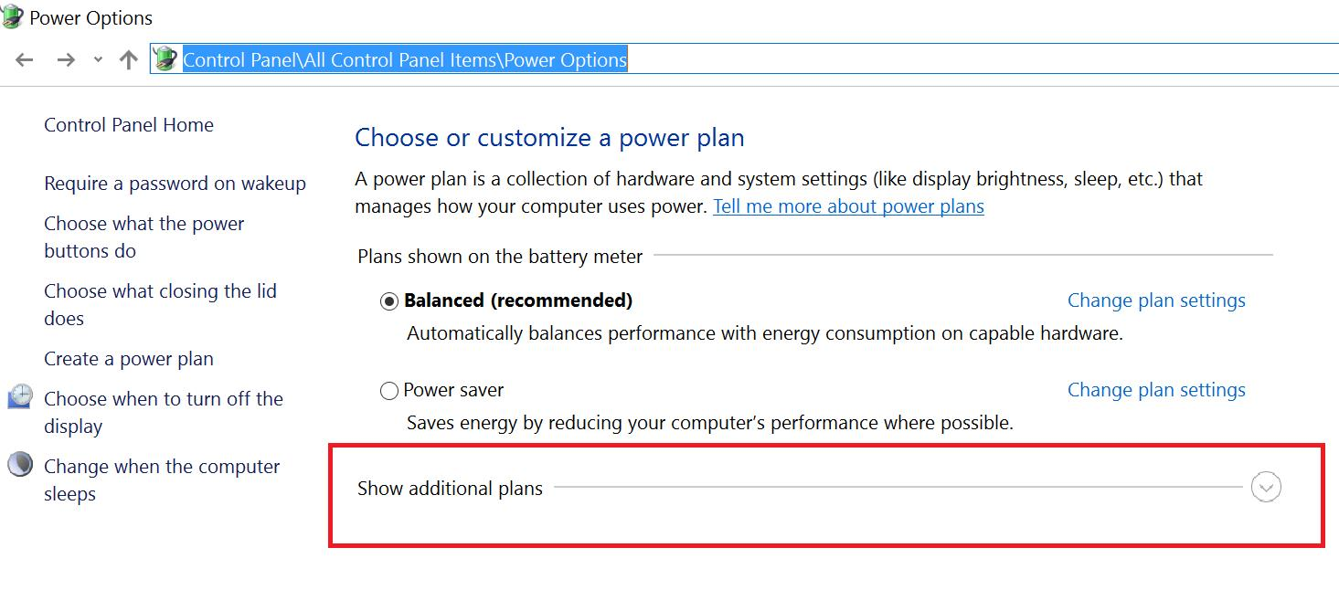 how to change to performance power plan on pc