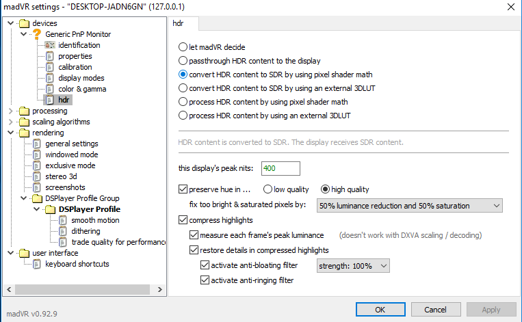 Converting UHD HDR to SDR? - VideoHelp Forum