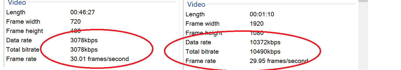 Frame Rate, Bitrates ans Frame by frame comparison - VideoHelp Forum