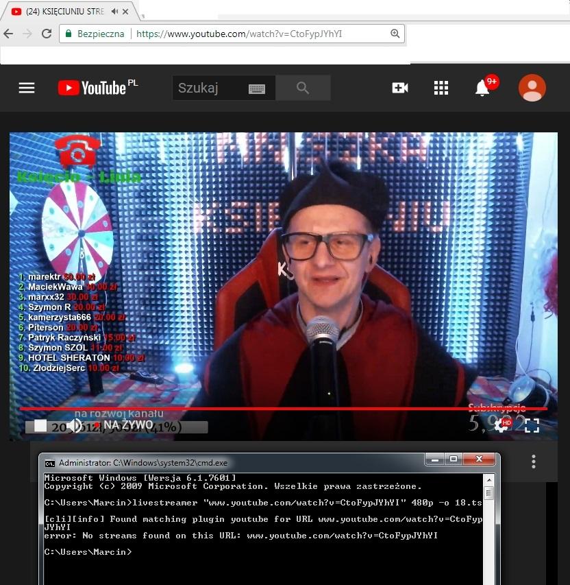 Problem with youtube-dl no stream found - VideoHelp Forum