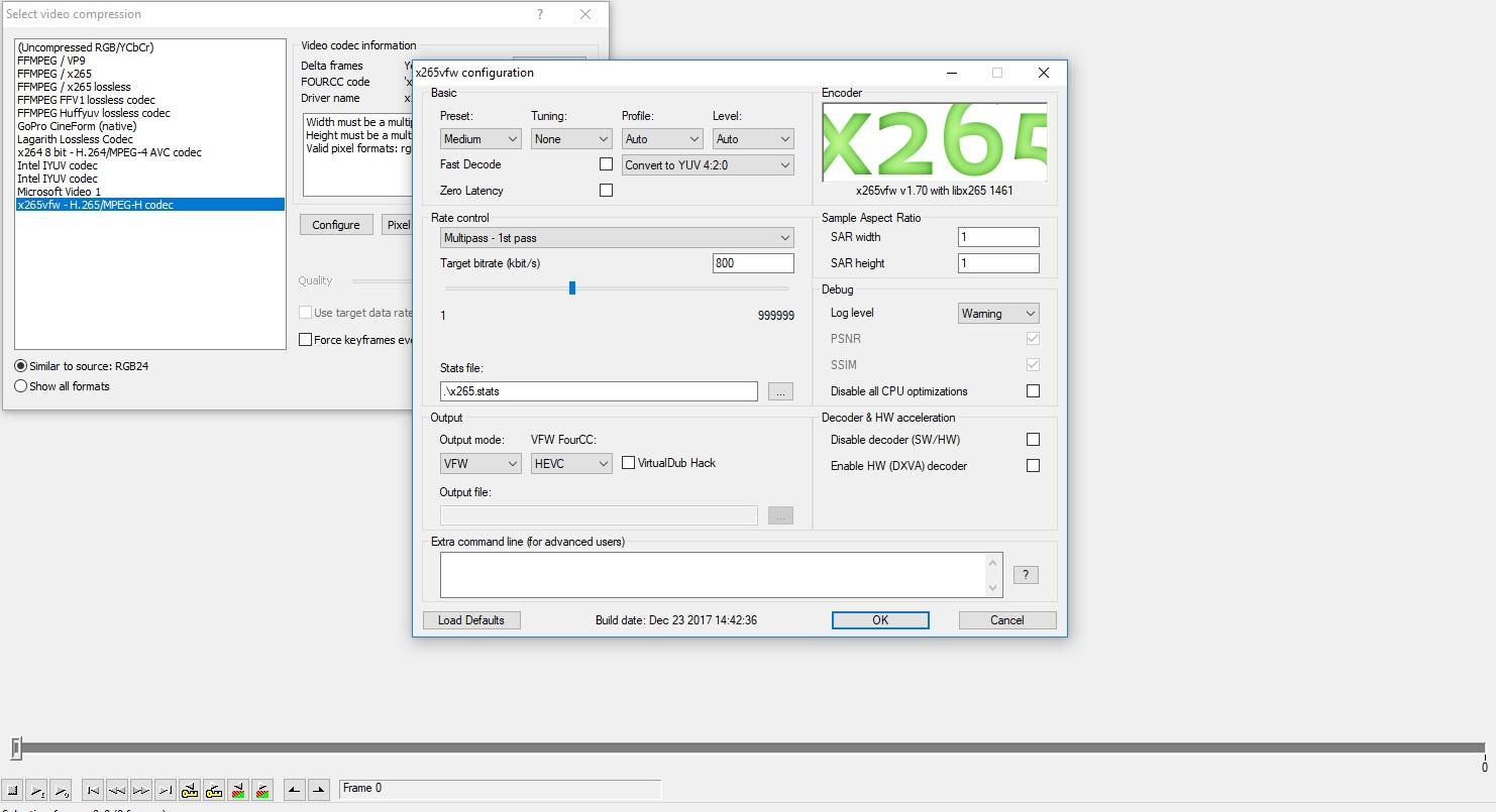 i want x265 for VirtualDub - VideoHelp Forum