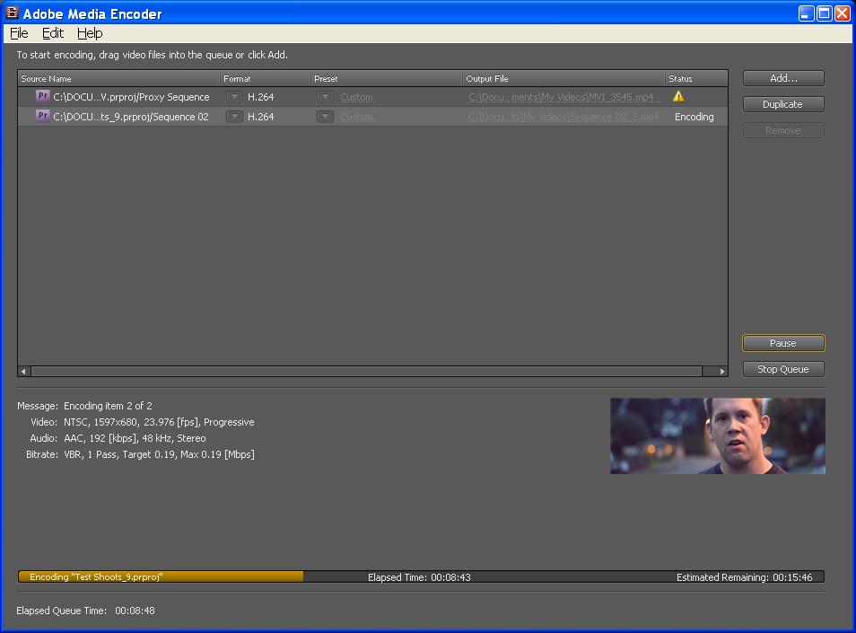Custom Export Settings (Premiere Pro CS4) *Height