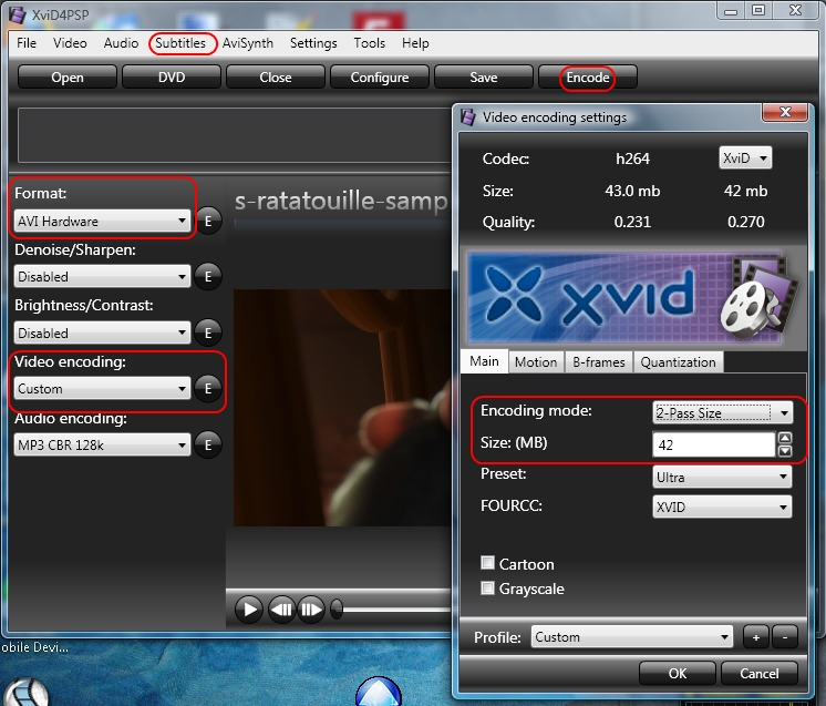 How to convert any video to avi or mp4 or mkv with burned in if you dont what size to choose use same as the source video or if you dont need a specific size change encoding mode to constant qualityquantizer mode ccuart Image collections
