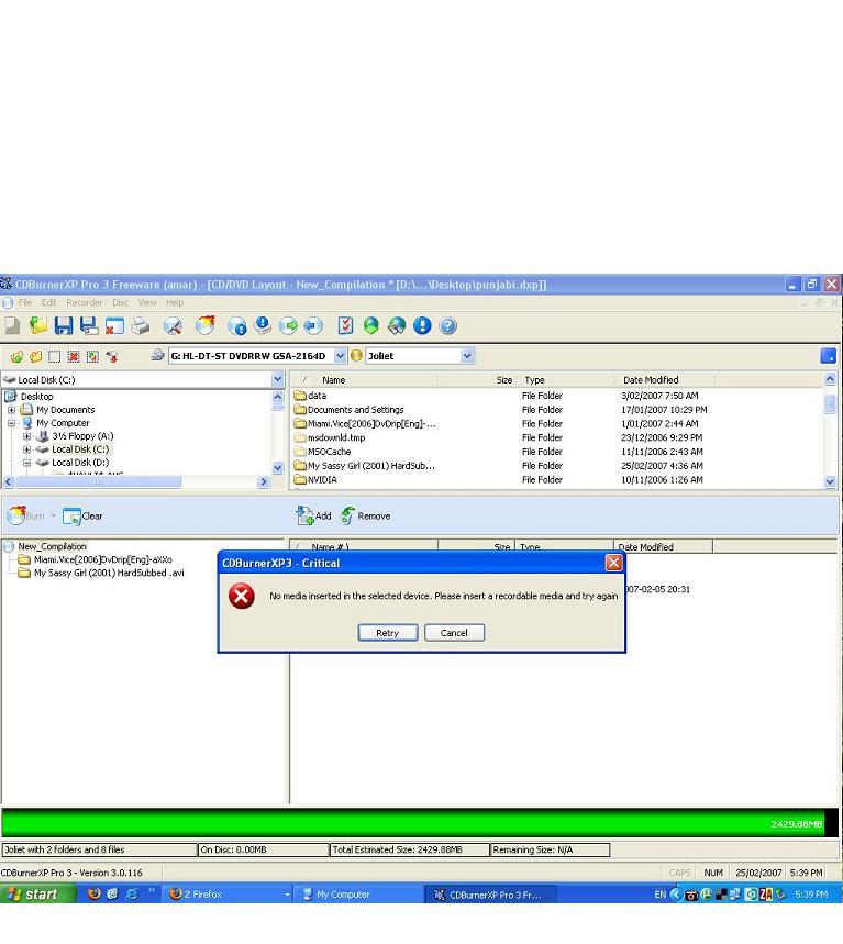 LG GSA 2164D dvd writer issues for burning - VideoHelp Forum