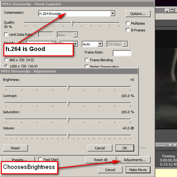 how to change brightness and contrast in video