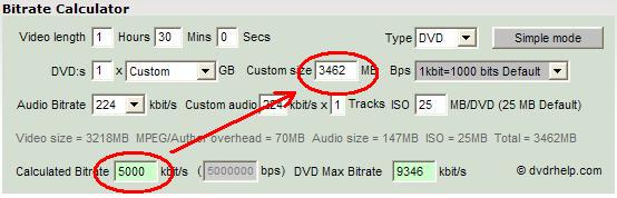 Formulas used to calculate bitrates  - VideoHelp Forum