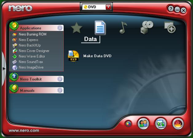 nero com manuals and help files