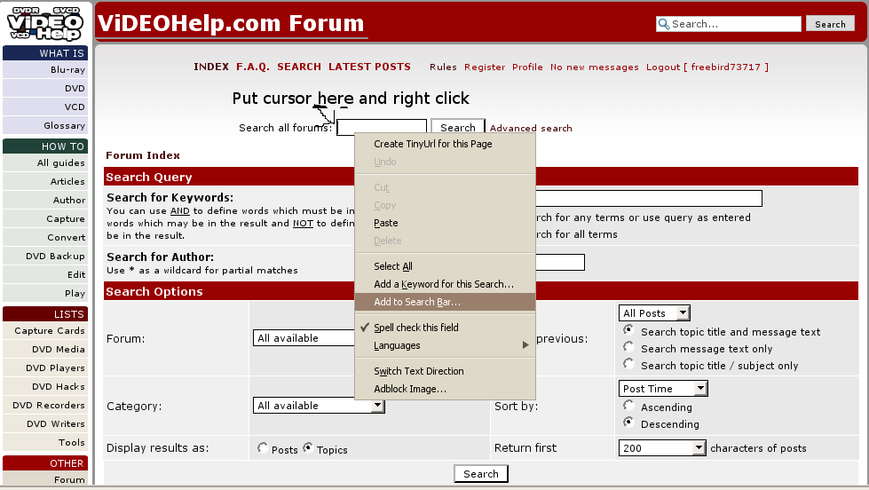 how to change search engine in firefox toolbar