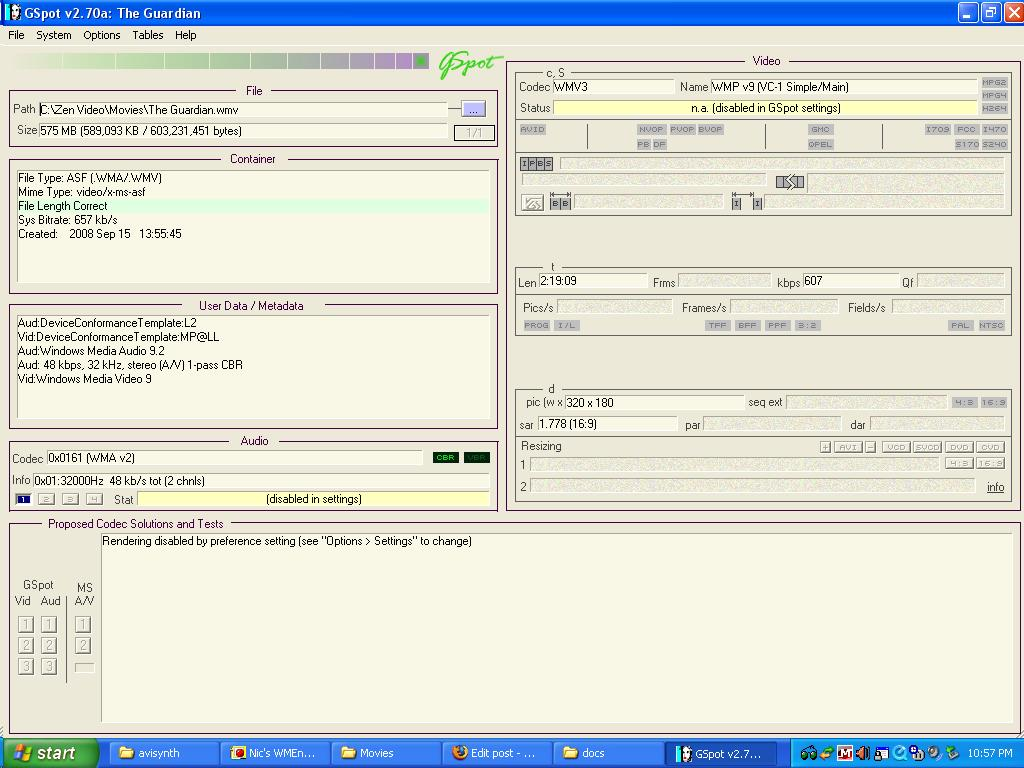 FFMPEG: WMV9 vid and WMA9 2? - VideoHelp Forum