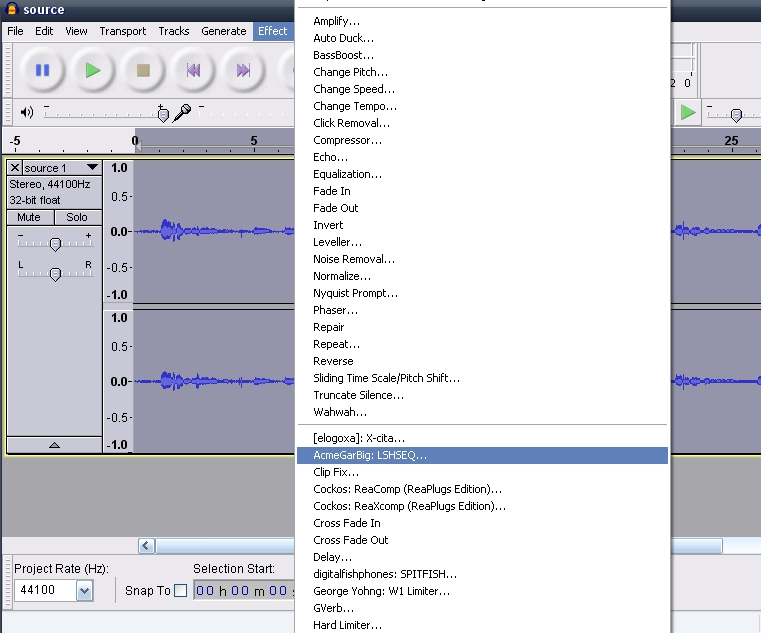 Mini Guide - Using Audacity With VST Plugins - VideoHelp Forum